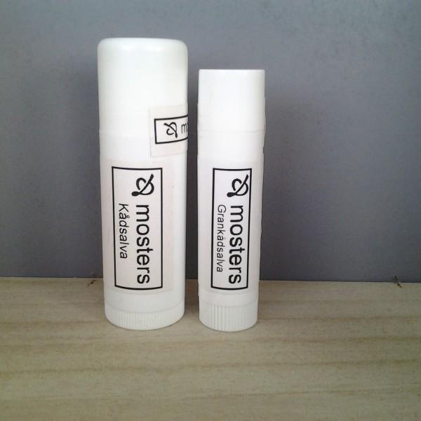 Även den extra starka Grankådsalvan finns i detta format, 6 och 17 ml.